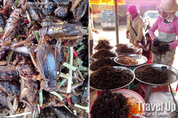 exotic street food siem reap cambodia insects
