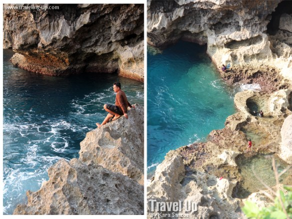 itbayat batanes swimming lagoon cliffs