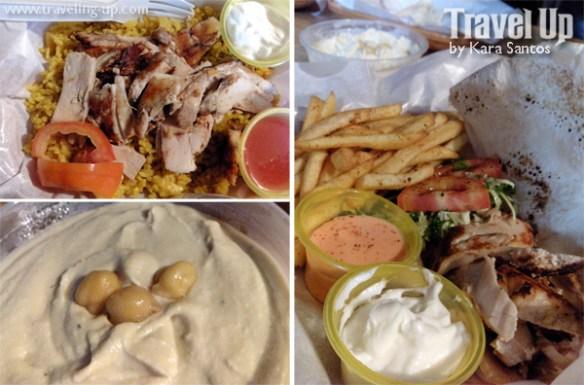 meshwe chicken shawarma plate hummus malingap