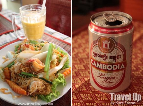 noodles fruit shake cambodia beer siem reap