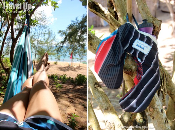 hammock and pouch beach
