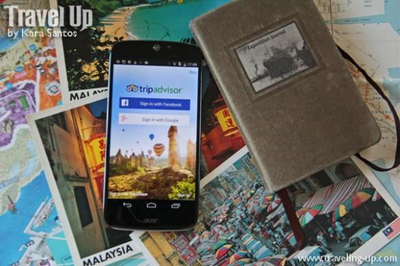 smartphone tripadvisor app & postcards