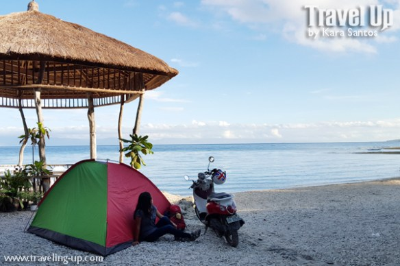location independence tent motorcycle travelup beach cebu