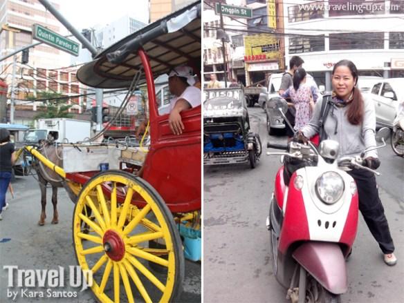 binondo getting around kalesa scooter travelup