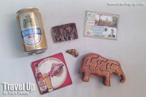 cambodia angkor archaelogical park souvenirs beer entrance ticket
