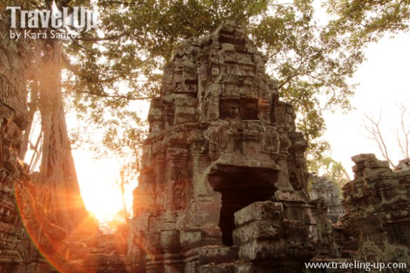 biking cambodia angkor archaelogical park ta prohm sunset