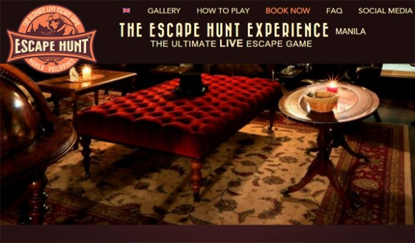 the escape hunt experience manila screenshot from website