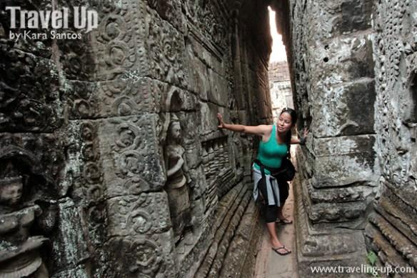biking cambodia angkor archaelogical park wall carving