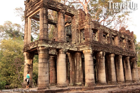 biking day 2 cambodia angkor archaeological park preah khan columns