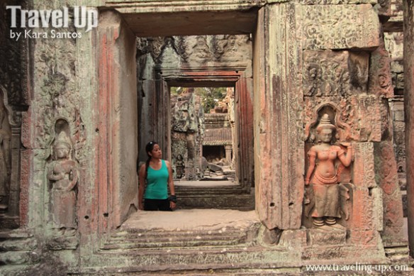 biking day 2 cambodia angkor archaeological park preah khan window