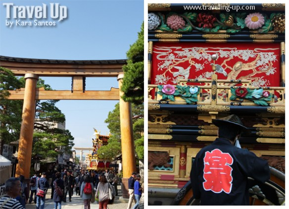 takayama autumn festival japan yatai detail arch