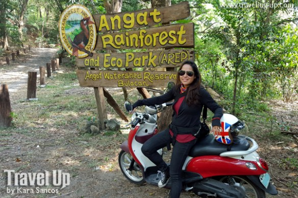 angat rainforest and eco park AREP sign motorcycle