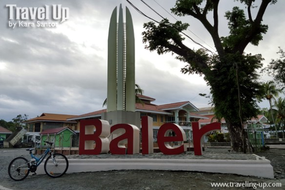 baler aurora landmark sign marker bicycle