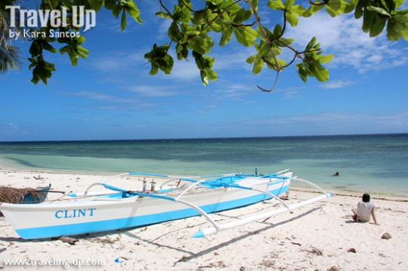 bohol by motorcycle boat beach woman