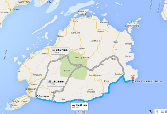 bohol by motorcycle route map day 3
