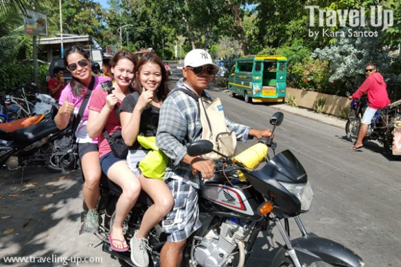 habal-habal to osmena peak from badian passengers
