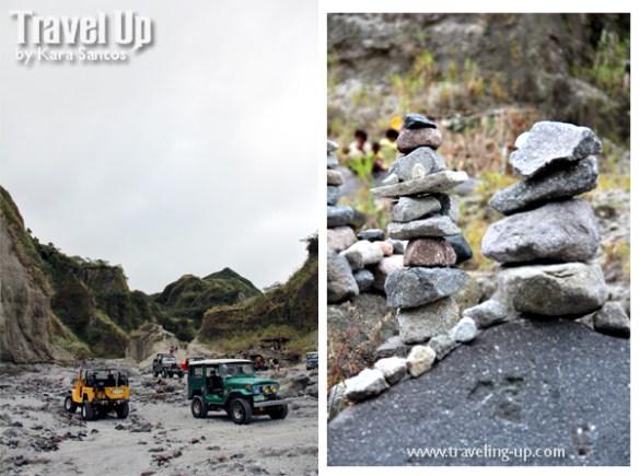 mt. pinatubo 4x4 jeeps stones