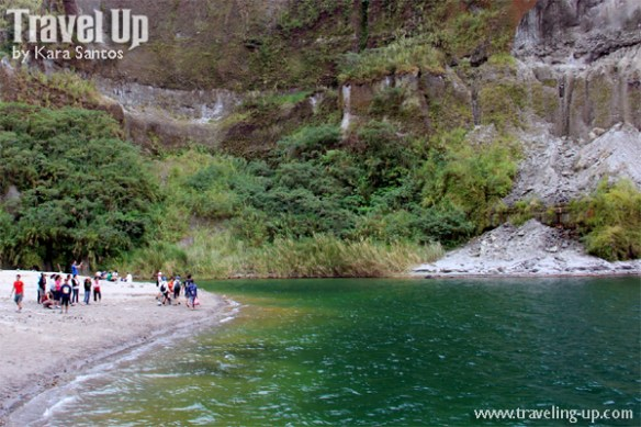mt. pinatubo crater lake hikers