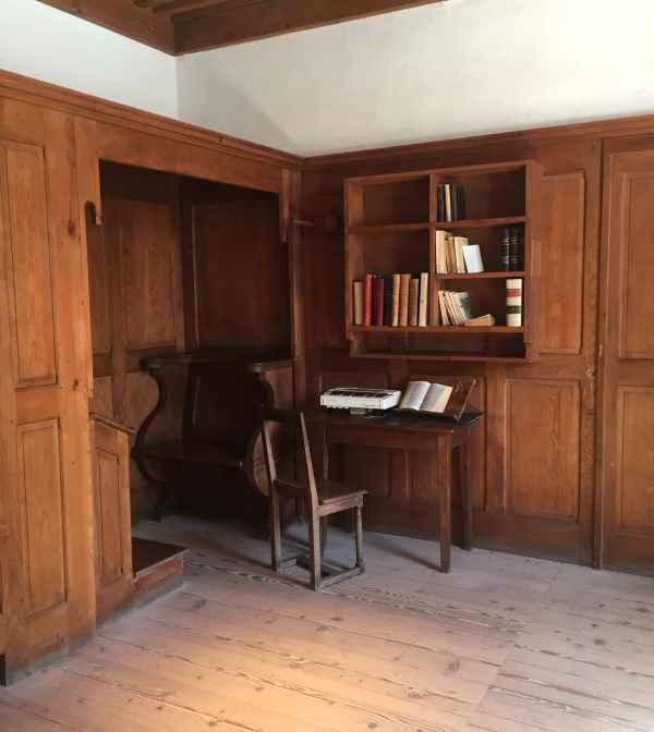 chambre de moine - monastère de la Grande chartreuse