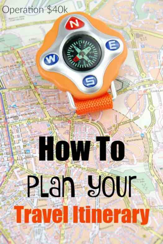 How To Plan Your Travel Itinerary