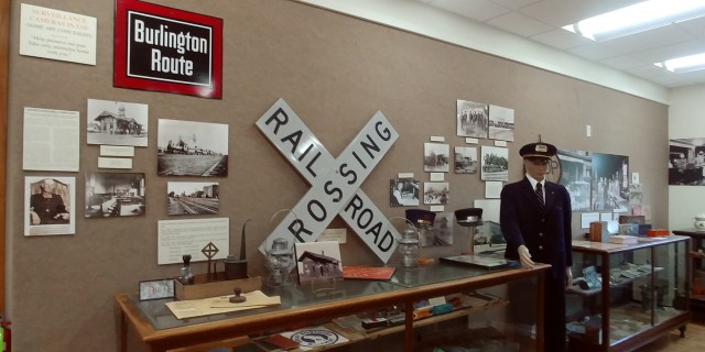 railroad display at the Wapello County Historical Museum