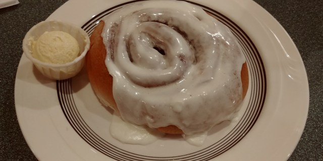 cinnamon roll from the second street cafe