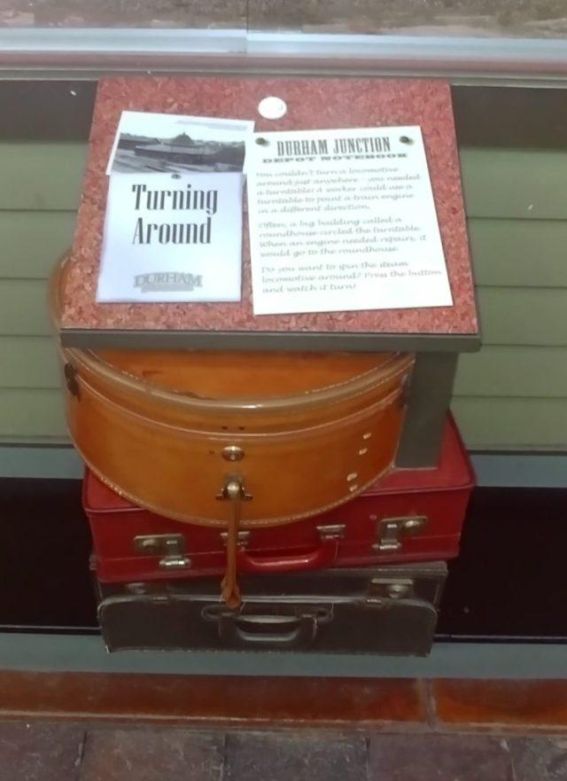 display at durham train museum of Omaha