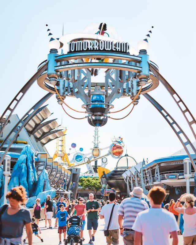 Rides at Magic Kingdom Guide tomorrowland sign