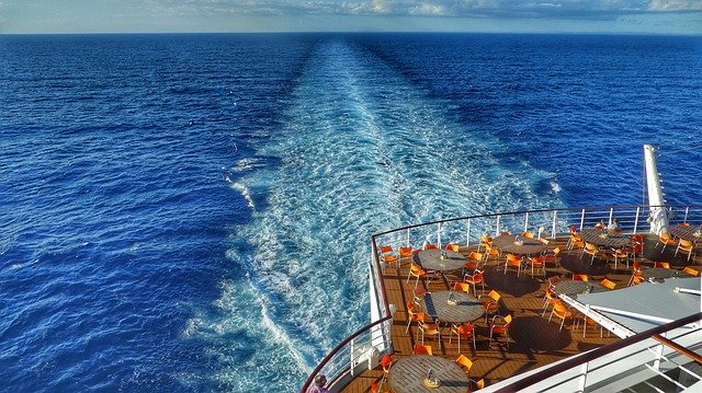 Cruise Deals in Europe looking off the back of the ship