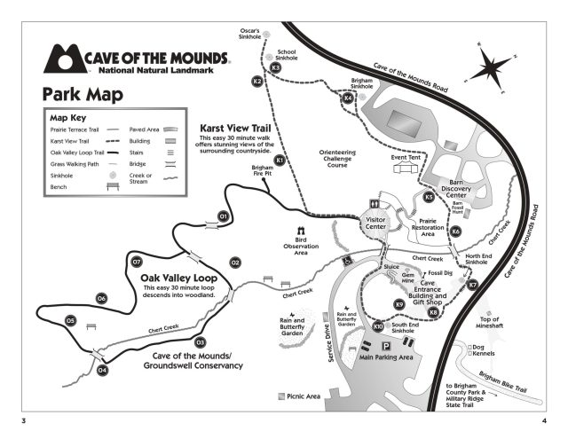 Cave of the Mounds map