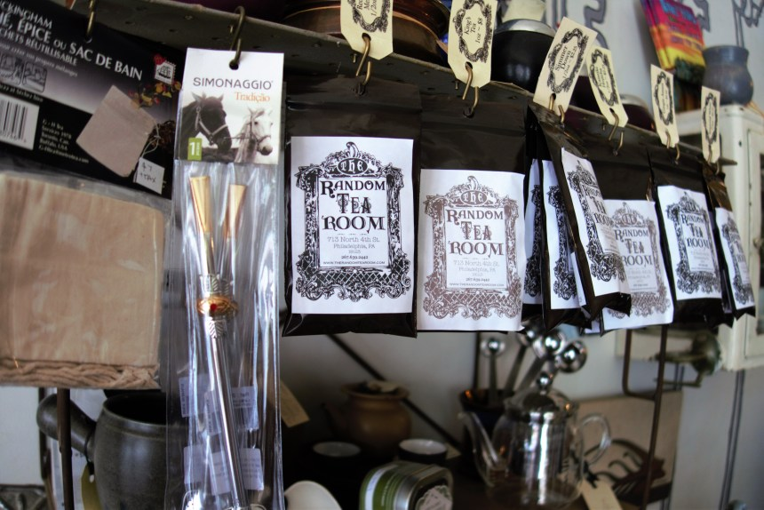 teas and gifts sold at the Random Tea and Curiosity Shop in Philadelphia