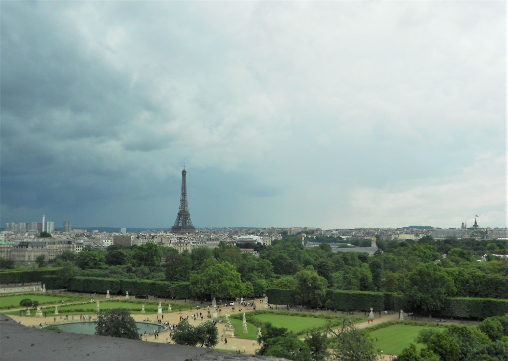 Eiffel Tower, seen from Musee des Arts Deco in Paris
