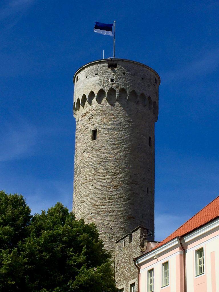 One end at Tall Hermann's Tower in Tallinn