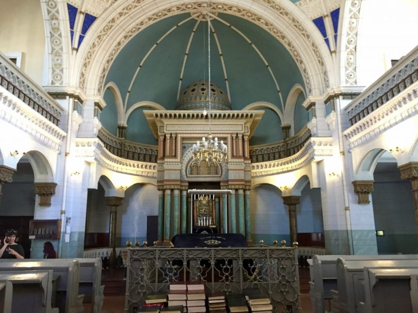The Choral Synagogue of Vilnius -- the only synagogue in Vilnius that is still in use