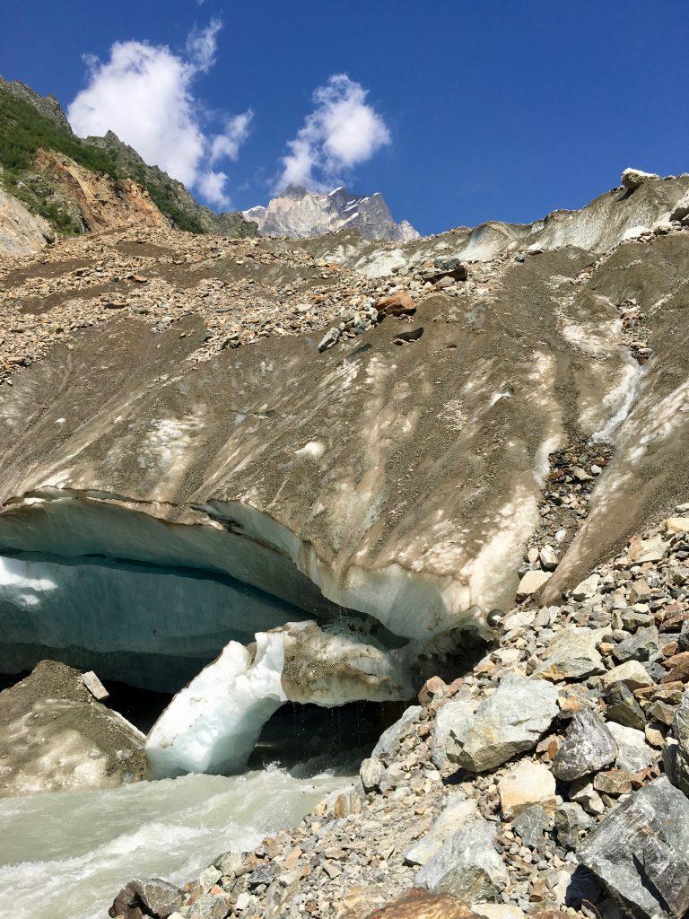 The base of Chalaadi Glacier