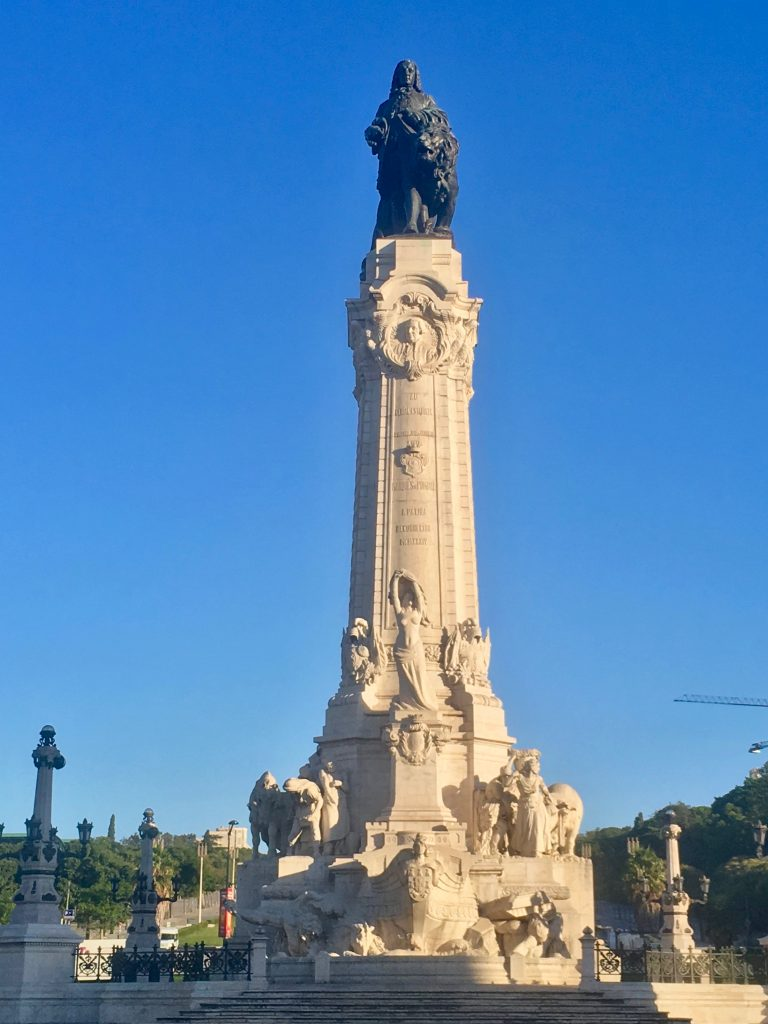 The Marquis of Pombal overlong the city he rebuilt