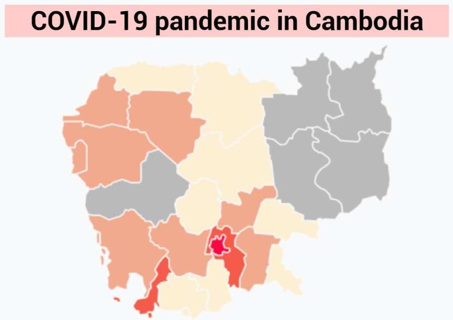 COVID-19 map in Cambodia