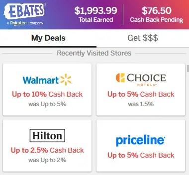 My Ebates Earnings