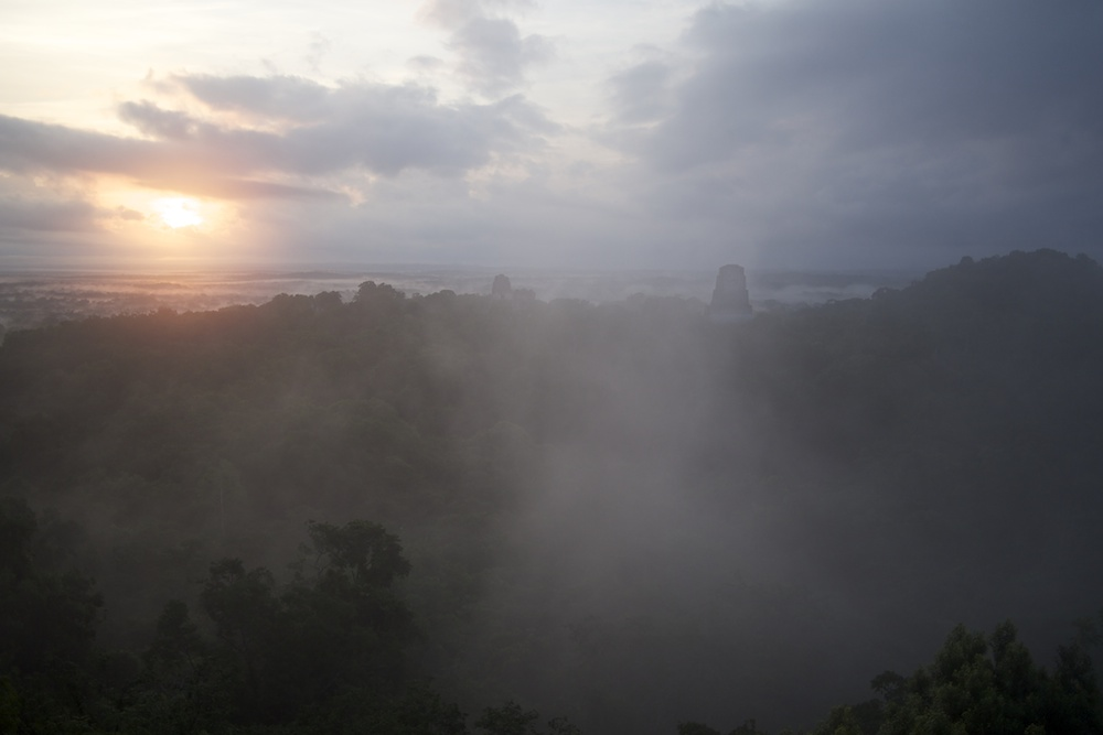 Tikal bei Sonnenaufgang