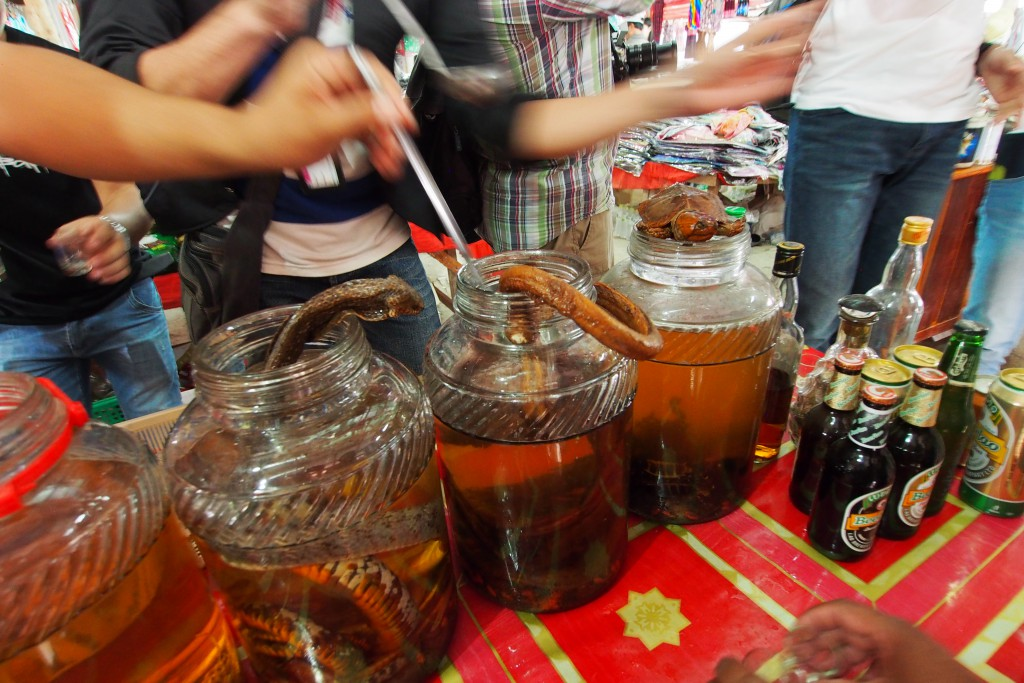Whisky Tating in Laos