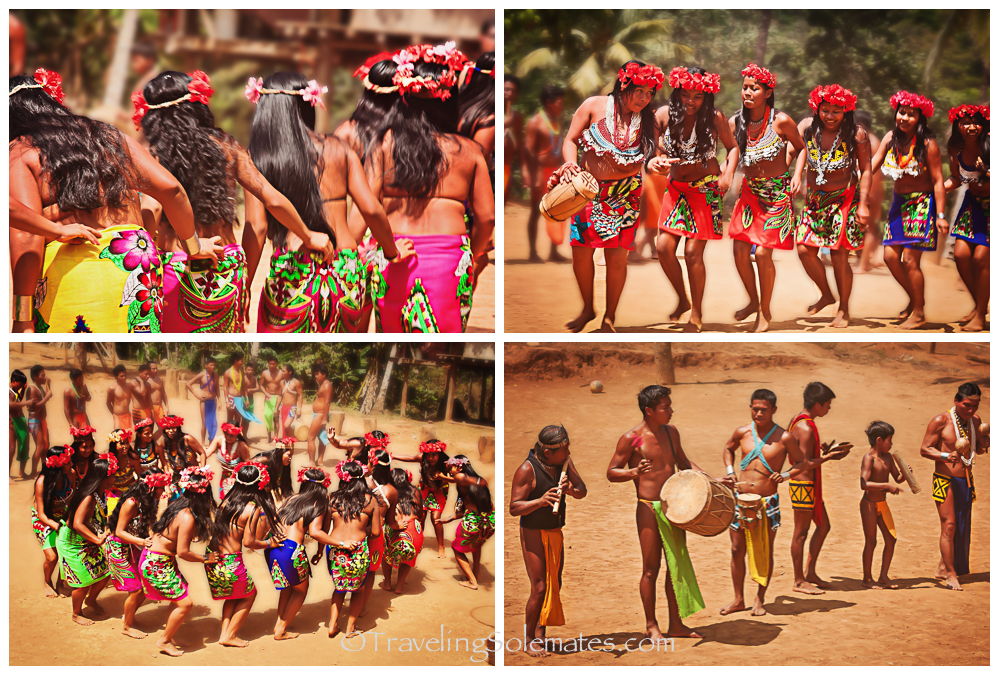 Embera Dance and Music, Embera Drua Village, Charges National Park, Panama