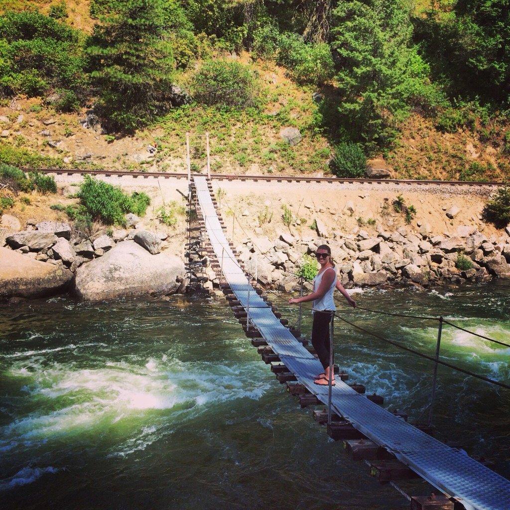 swinging bridge mccall idaho