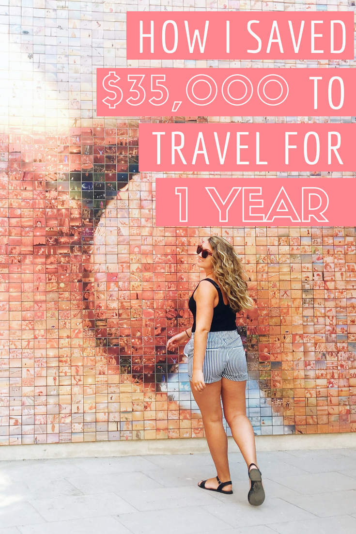 How I saved $35,000 to travel for a year