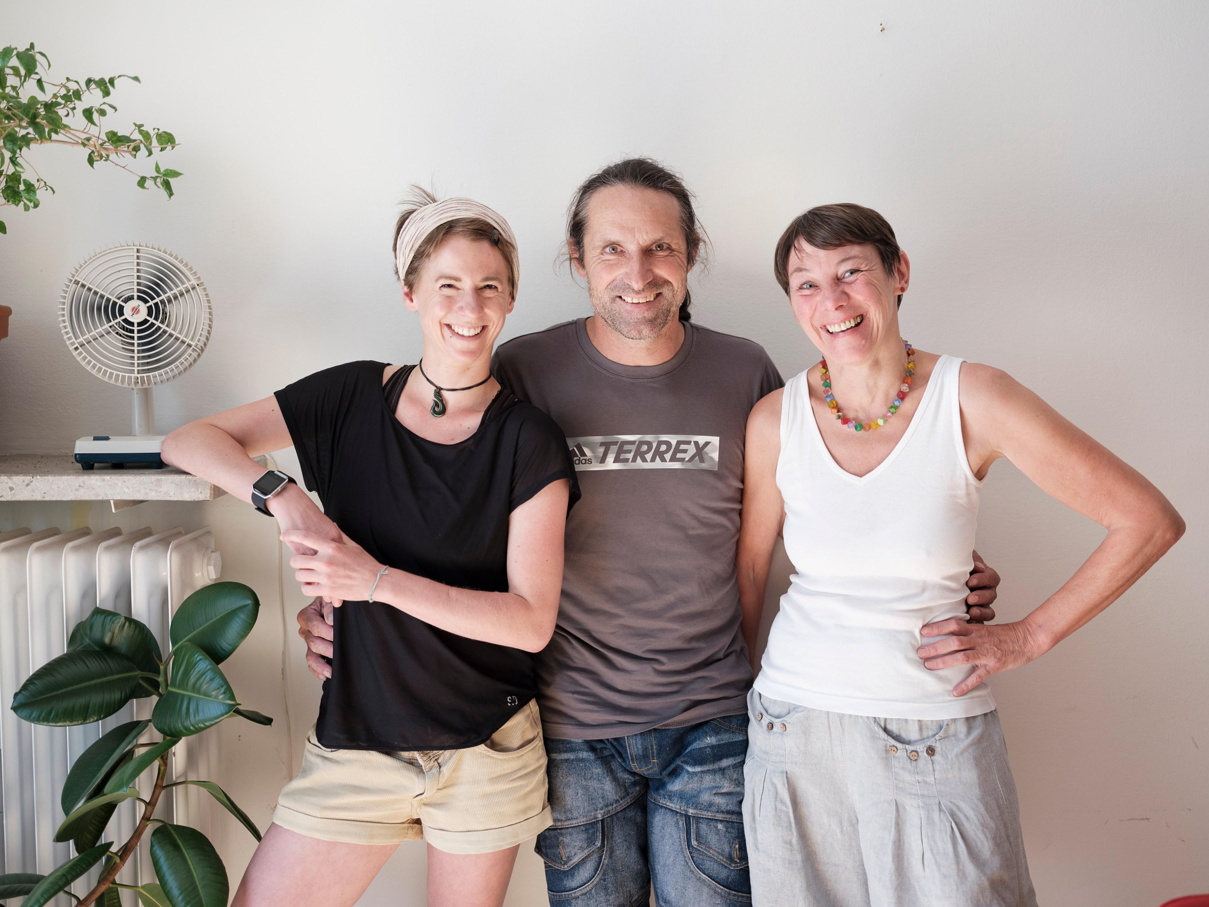 Alexander Huber mit Vera Hahn und mir | Foto: Robert Brembeck