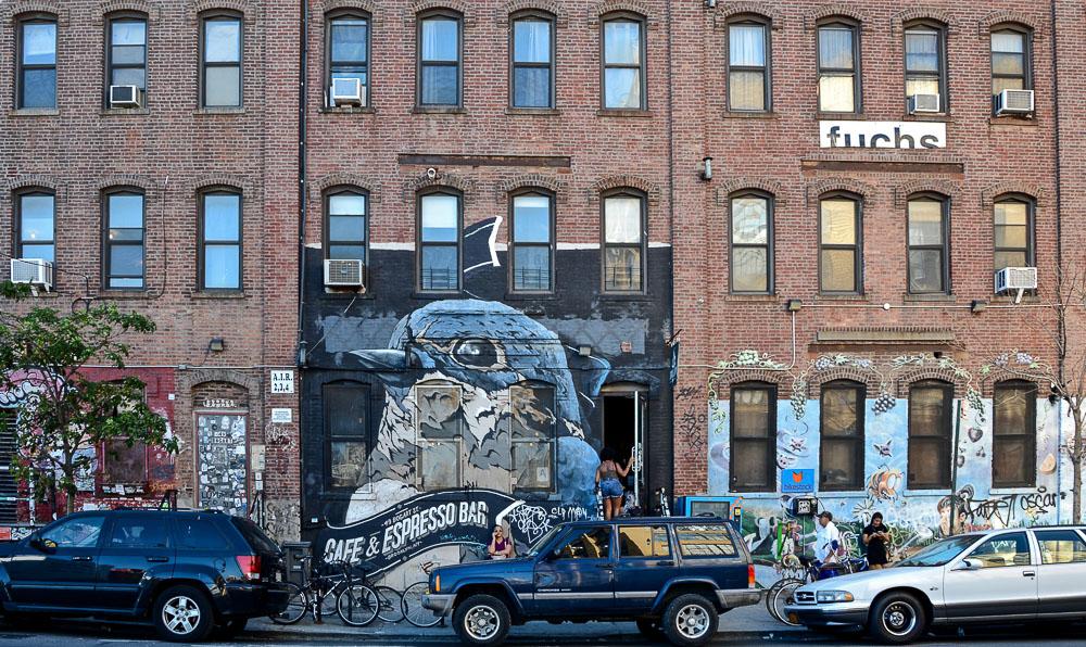 New York Brooklyn Bushwick Street Art Swallow Café
