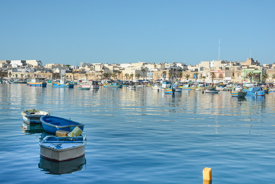 Traveling the World Malta Marsaxlokk Fishing Boats