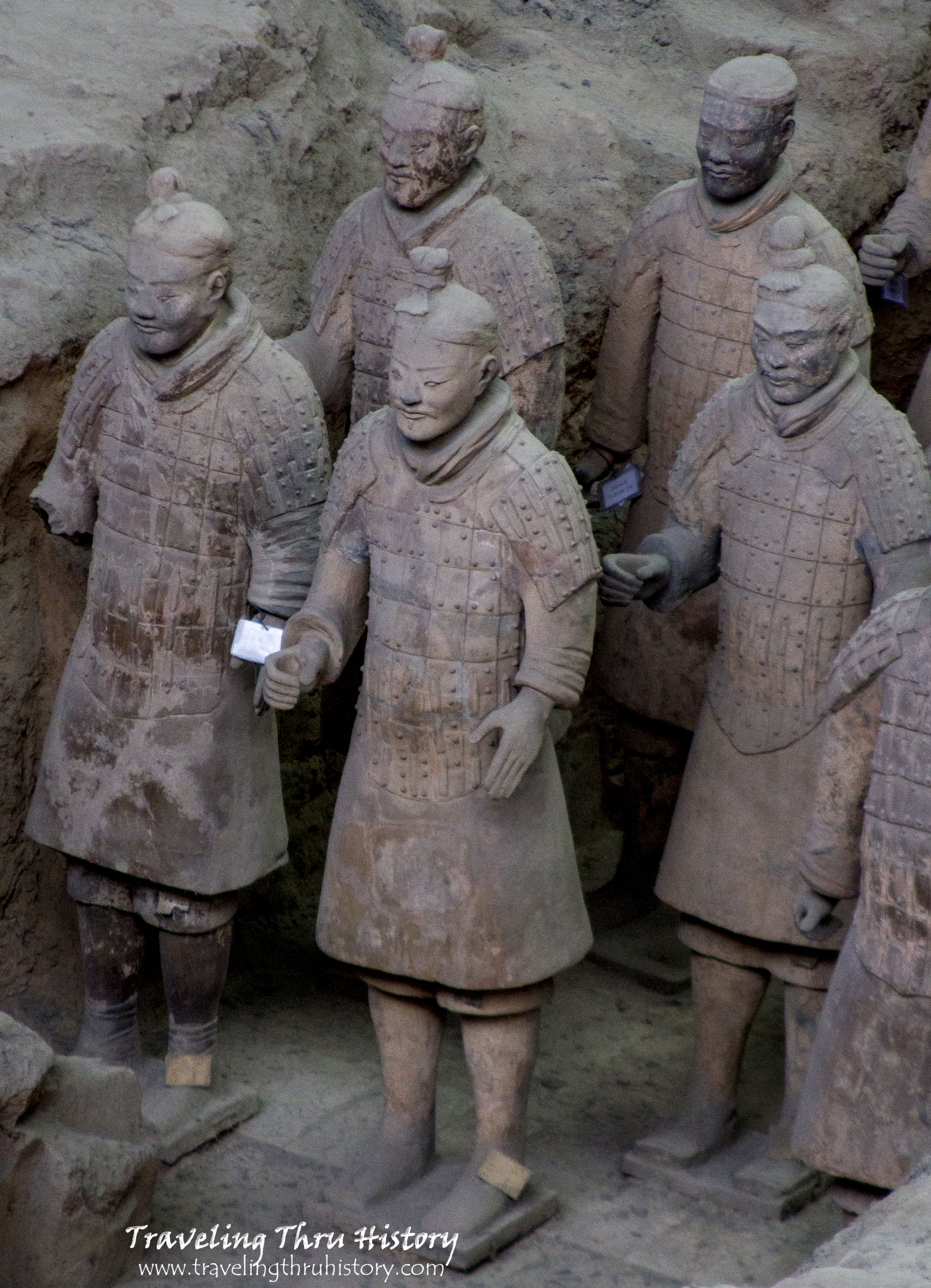 The Terracotta Army is a collection of terracotta sculptures depicting the armies of Qin Shi Huang, the first Emperor of China, outside Lintong, Xi'an, Shaanxi, China.