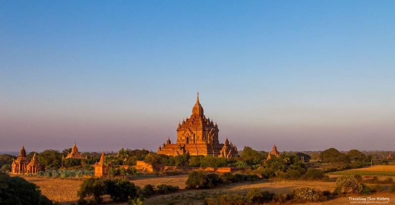 Htilo Minlo, Temple, Bagan, Myanmar, Sunset, landscape
