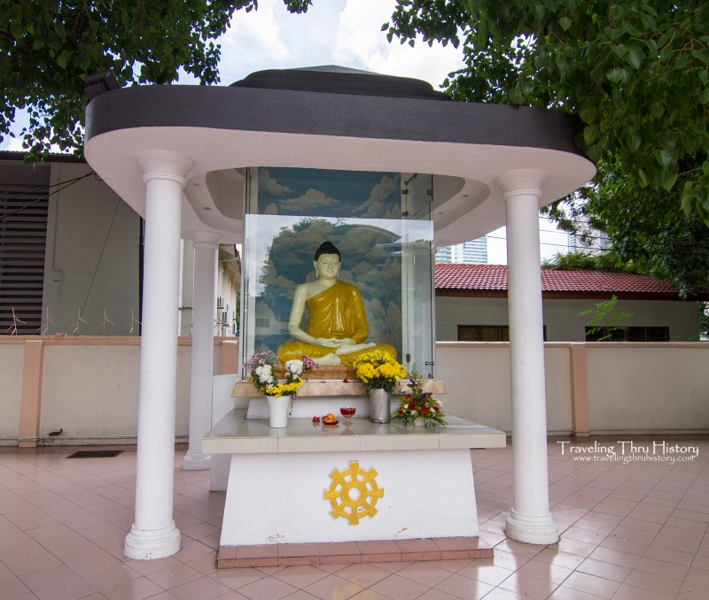 Maha Vihara Buddhist Temple Brickfields is a Buddhist site located in the Brickfields section of Kuala Lumpur. It was founded in 1895 by the Sinhalese community to provide a place of worship in the Sri Lankan Theravada Buddhist tradition. It is also known as the Brickfields Buddhist Temple.