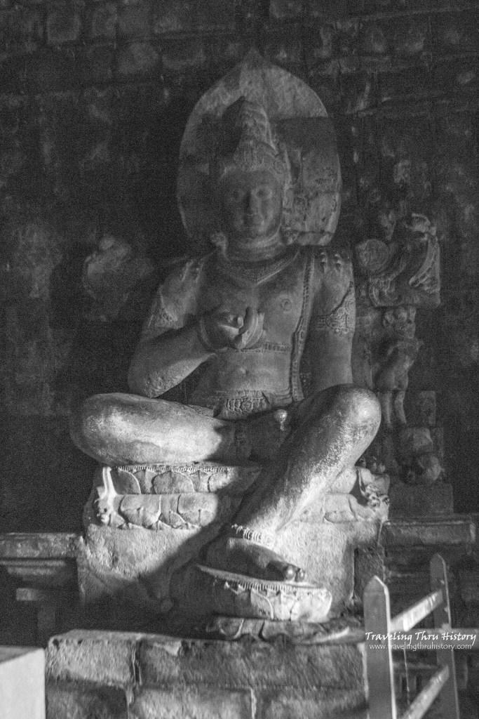 Candi Mendut is a 9th century Buddhist temple located in Yogyakarta, Indonesia.
